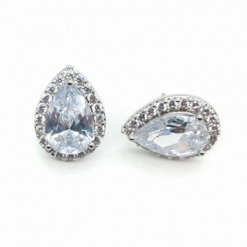 Ella Studs Clear Crystal - (Buy Now)
